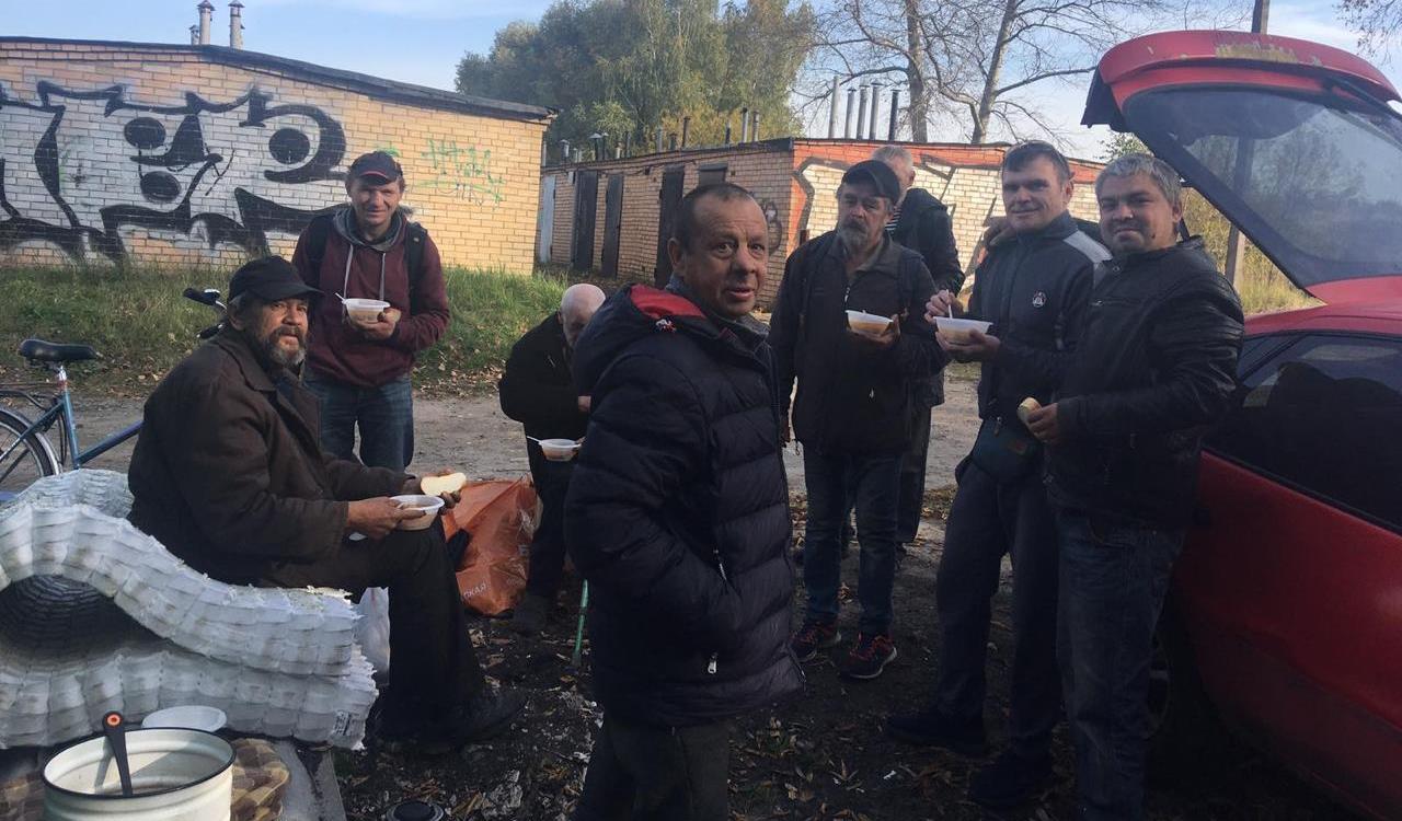 Кормление бездомных в Москве и Подмосковье